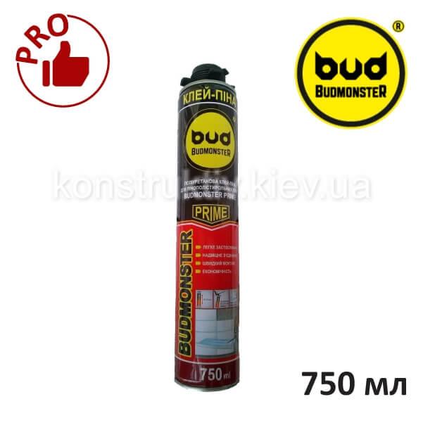 Клей-пена для пенопласта Budmonster Prime, 750 мл (профессиональная)