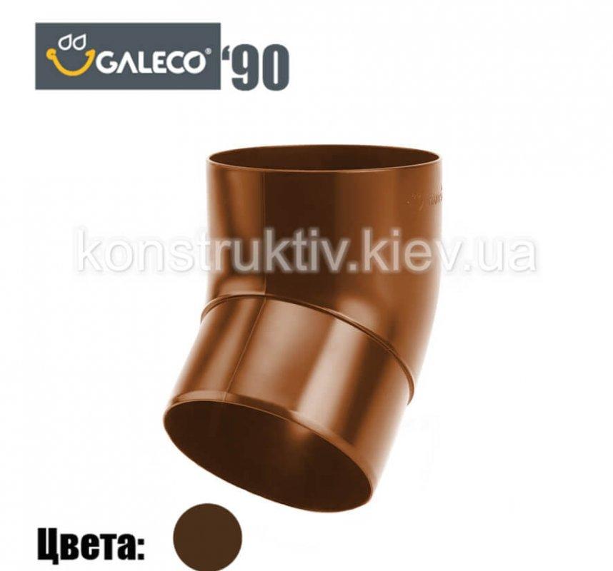 Колено 67 гр., Galeco 90 (RAL 8019)