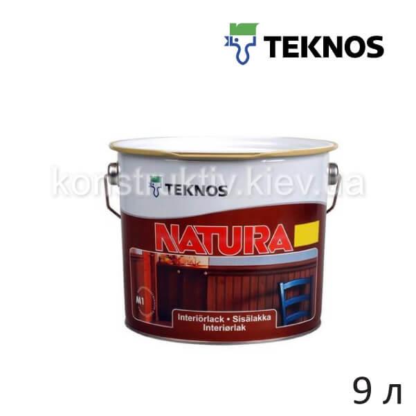 Лак для дерева Teknos NATURA (НАТУРА), 9 л (полуматовый)