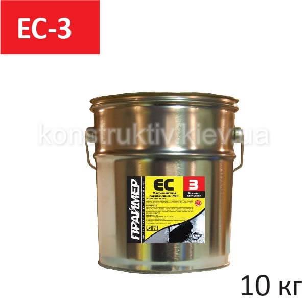 Мастика гидроизоляционная Праймер ЕС-3, 10 кг (битумная)