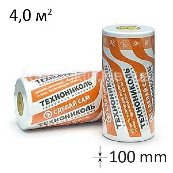 Минеральная вата Теплоролл 100 мм 4000*1000*1/4 м.кв