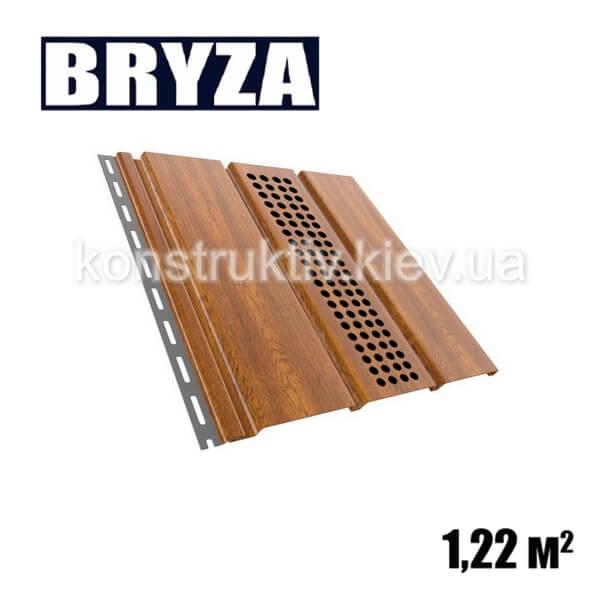 Панель софит перфорированная, 4х0,31м, золотой дуб