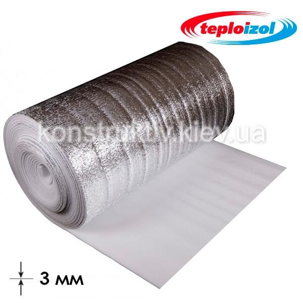Подложка под ламинат ЛМП (фольга) 3мм*1м*50м, Теплоизол ТМ