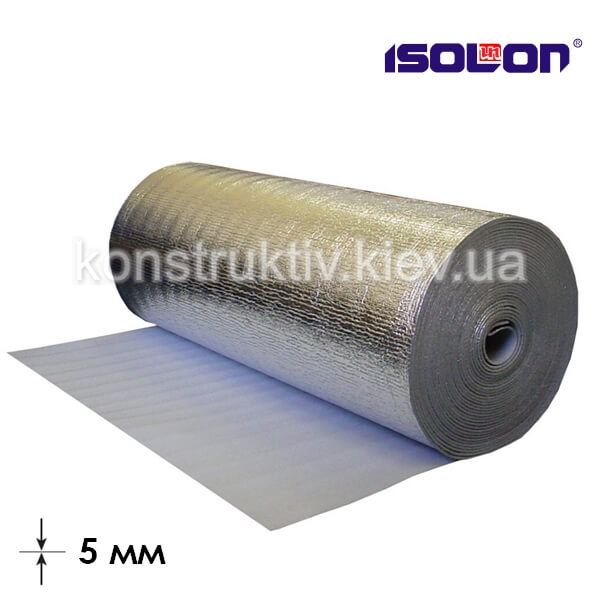 Подложка под ламинат ЛМП (фольга) 5мм*1м*50м, Изолон ТМ