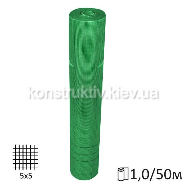 Сетка армированная FASAD 5*5мм (1*50 м) (зеленая)