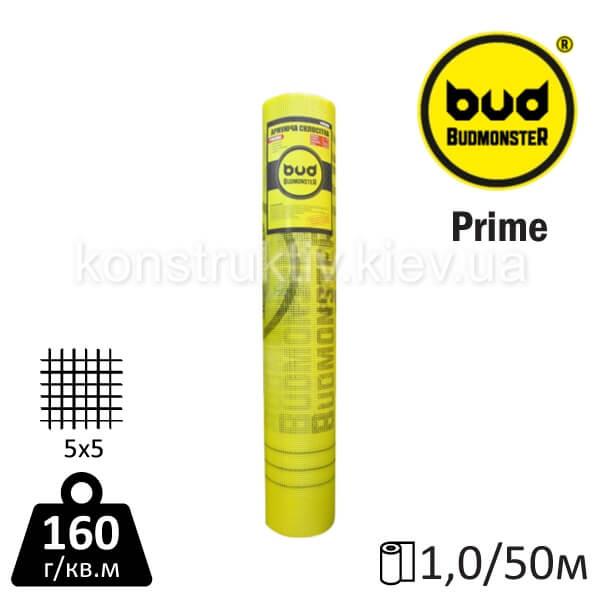 Сетка стеклотканевая BudMonster PRIME (1*50 м) 5*5 160 г/м.кв.