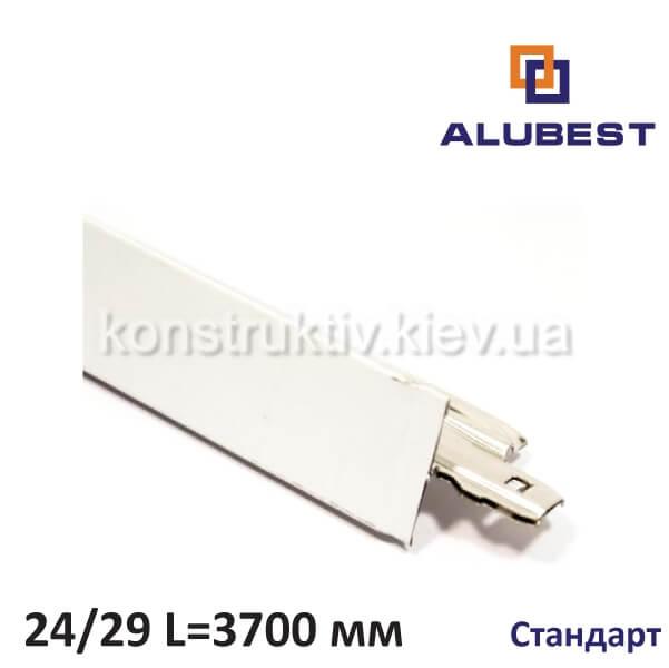 Т-профиль белый мат. СТАНДАРТ 24/29 3700 мм, Alubest (уп. 20 шт)
