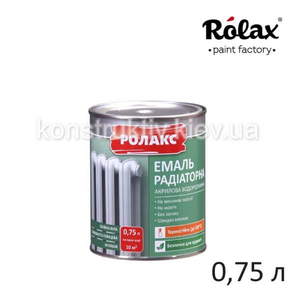 Эмаль акриловая Ролакс Premium, 0,75 л (радиаторная)