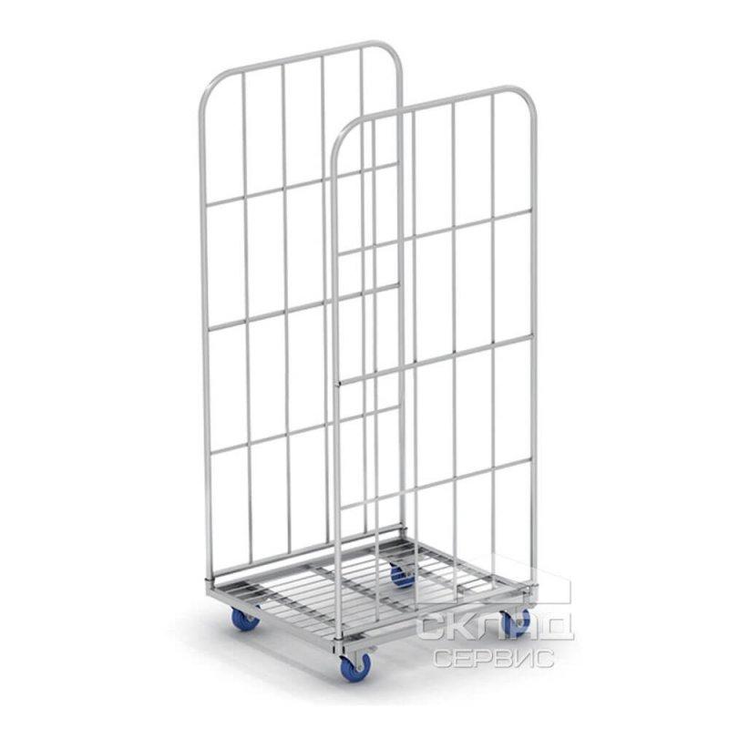 Купить Сетчатый контейнер на колесах (ролл-контейнер) двухстеночный 1570(h)х700х790 мм