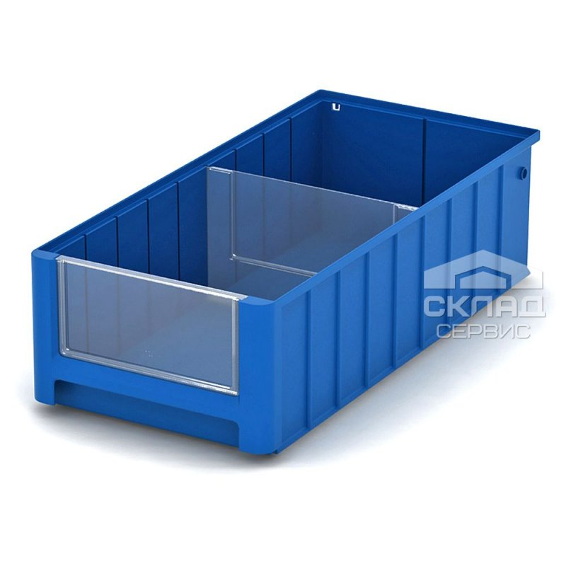 Купить Полочный пластиковый контейнер (SK 5214) 500x234x140 мм синий