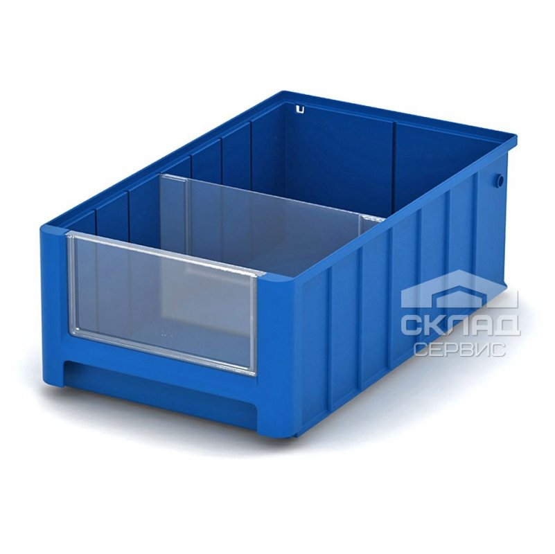 Купить Полочный пластиковый контейнер (SK 4214) 400x234x140 мм синий
