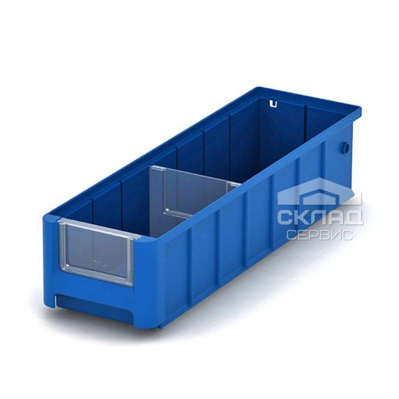 Купить Полочный пластиковый контейнер (SK 4109) 400x117x90 мм синий