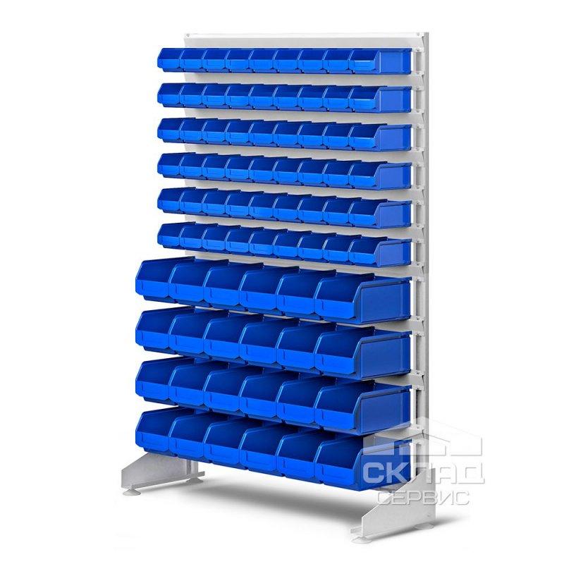 Купить Стеллаж односторонний с лотками LS (78 шт) 1500(h)х1000х350 мм