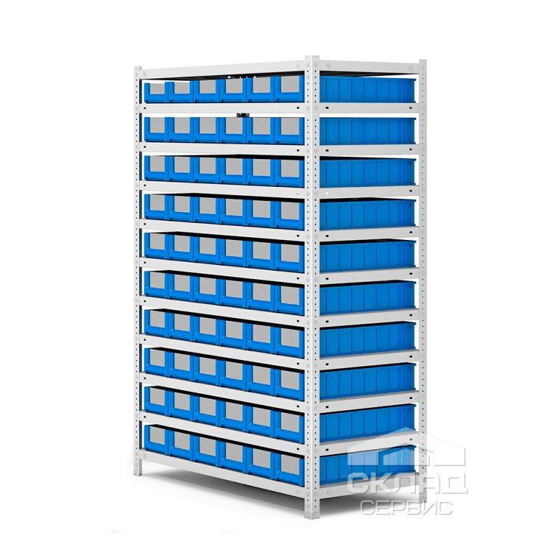 Купить Металлический стеллаж с лотками SK (51509) 1650(h)х1000х500 мм