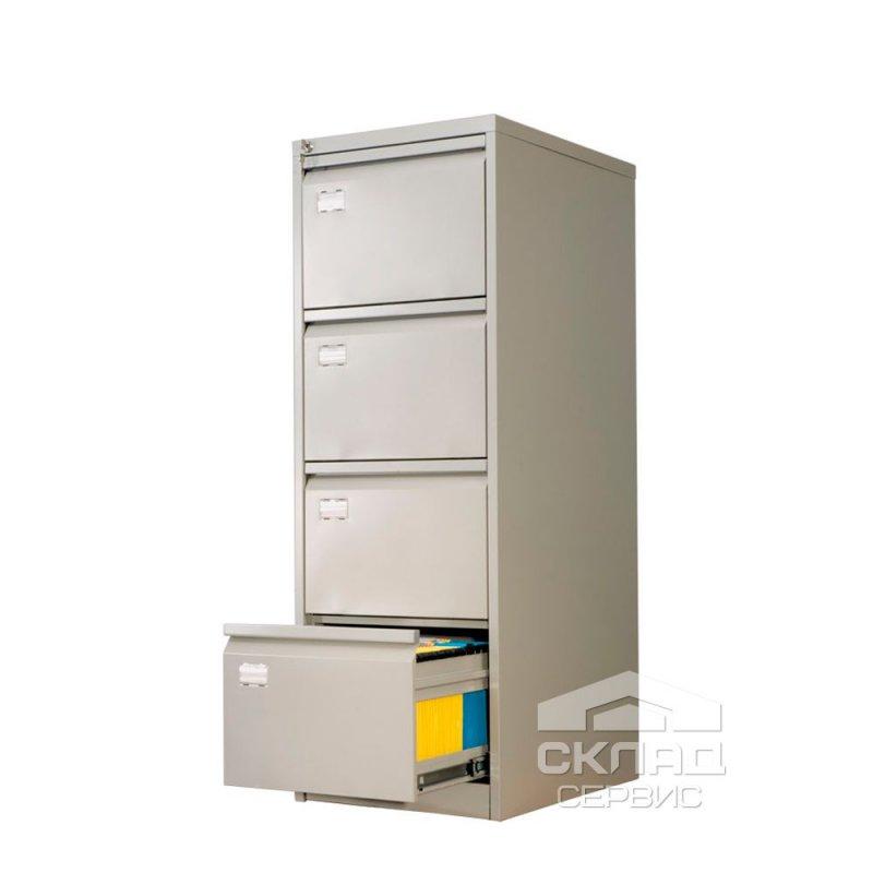 Купить Картотечный шкаф на 4 ящика формат foolscap и А4 (AFC-04) 1330х467х630 мм