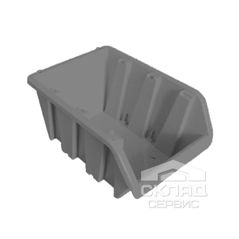 Купить Бытовой пластиковый контейнер вставной 160х100х85 мм металлик