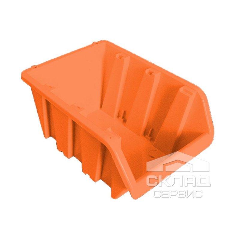 Купить Бытовой пластиковый контейнер вставной 160х100х85 мм оранжевый