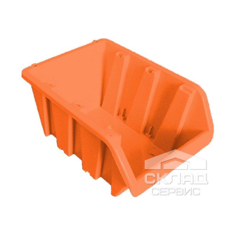 Купить Бытовой пластиковый контейнер вставной 230х160х120 мм оранжевый
