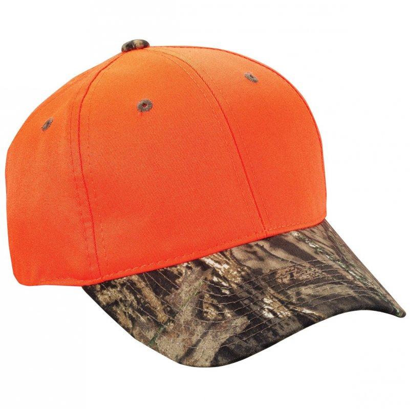 Кепка для охоты оранжевая Outdoor Cap Blaze Crown Camo Visor Cap