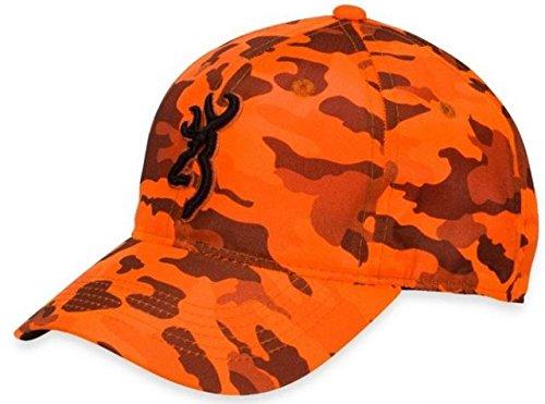 Кепка для охоты оранжевая Browning Blaze Camo Cap