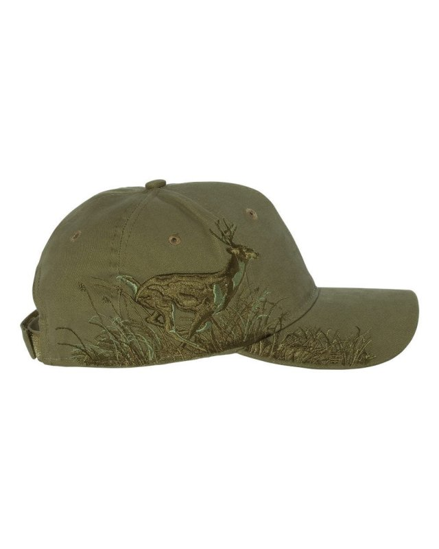 Кепка для охоты DRI DUCK Running Buck Olive