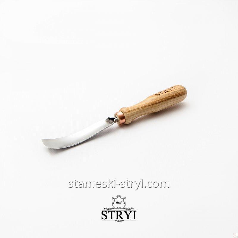 Стамеска-клюкарза STRYI отлогая для резьбы по дереву,профиль 5, 20 мм, арт.110520