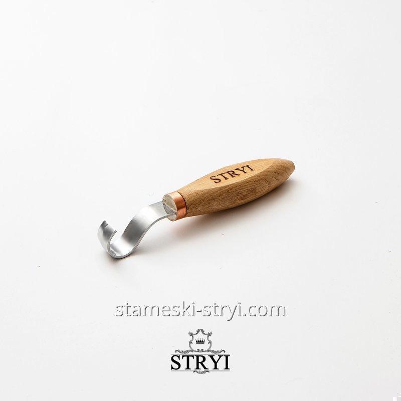 Стамеска ложкорез STRYI для резьбы по дереву, 20 мм. для левши, арт.150021