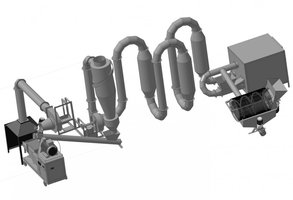 Купить Линия для производства топливных брикетов Pini Kay ЛПТБ-200