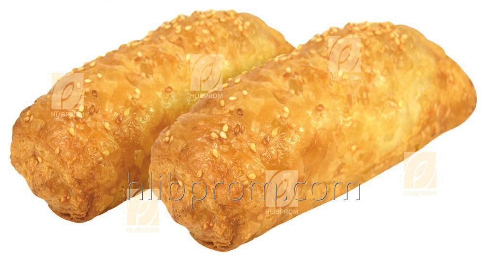 Слойка с Сосиской и Сыром 0,100 кг Замороженные Полуфабрикаты