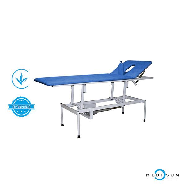 Кушетка для массажа КМЕ (кушетка массажная с электроприводом) медицинская стационарная Завет