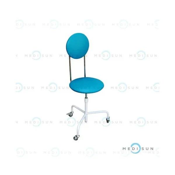 Стул для врача, стул медицинский для стоматолога передвижной со спинкой винтовой СВС-П Завет