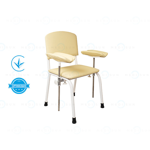 Стул для взятия крови (кресло для забора крови, донорское кресло с двумя подлокотниками) СД-2 Завет