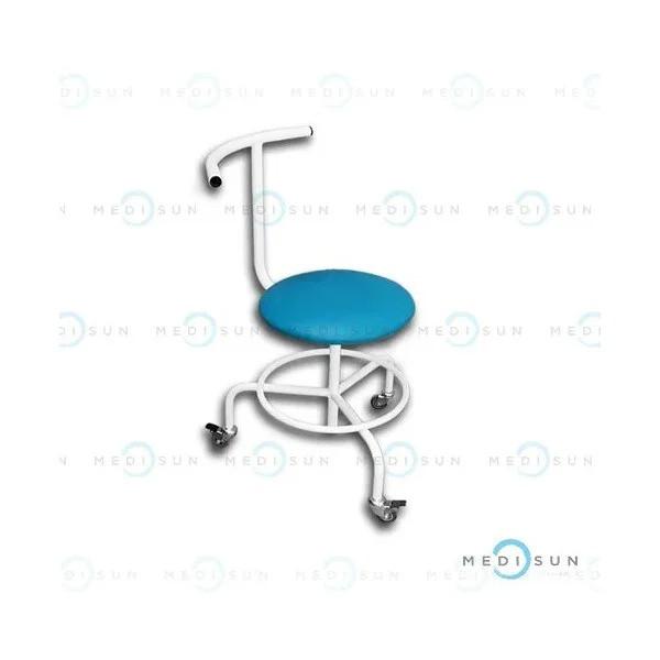 Стул врача-стоматолога СВПС передвижной винтовой со спинкой и подставкой для ног медицинский Завет