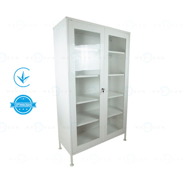 Шкаф для медикаментов ШМ-2 (витрины для аптеки) двухстворчатый Завет