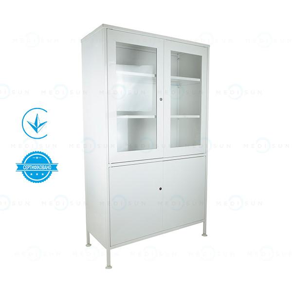 Медицинский шкаф с сейфом двухстворчатый шм-2с Завет