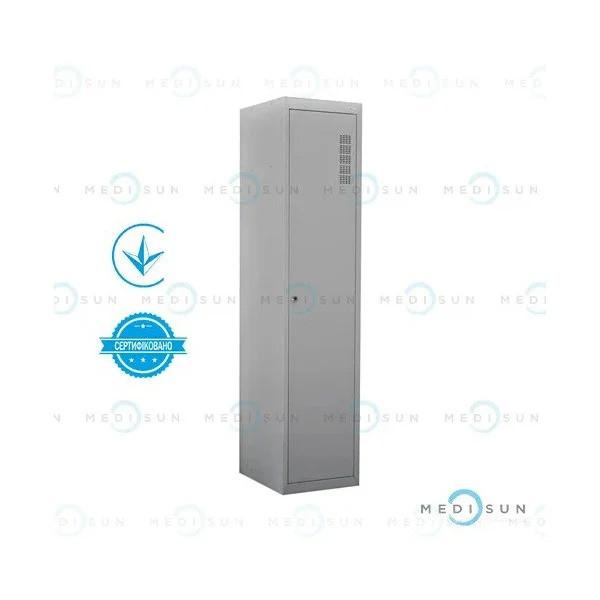 Шкаф для персонала (шкафчик для одежды металлический медицинский) одностворчатый ШХМ-1 Завет