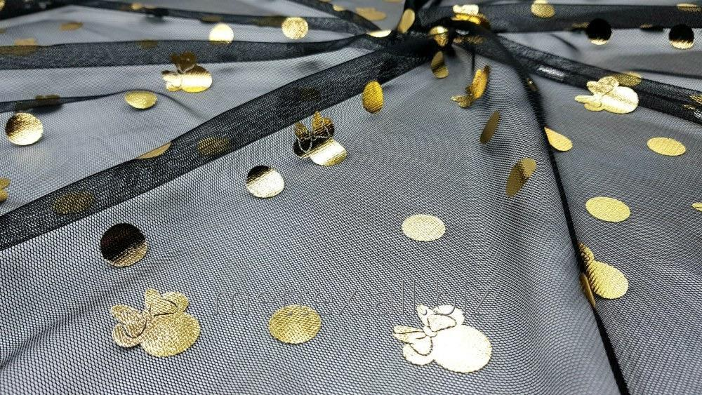 Купить  Евросетка № 234 цвет чорний МИННИ золото