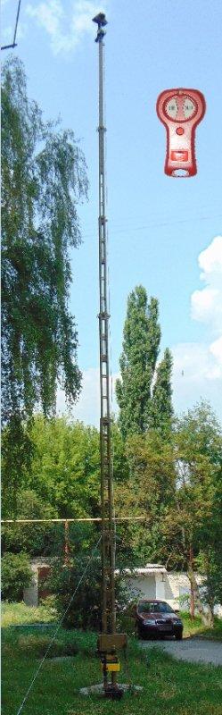Мачта телескопическая унифицированная с устройством поворотным