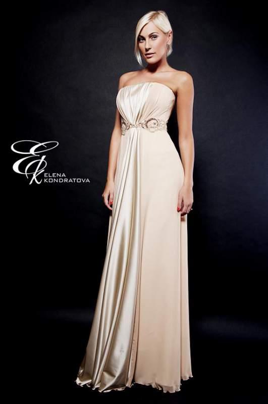 Купить вечернее бежевое платье