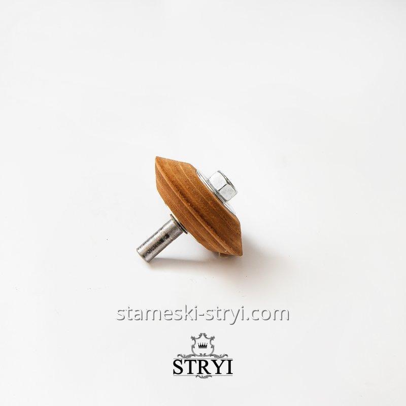 Кожаный круг для доводки и правки инструмента на оси от STRYI, 70 мм, арт.00073