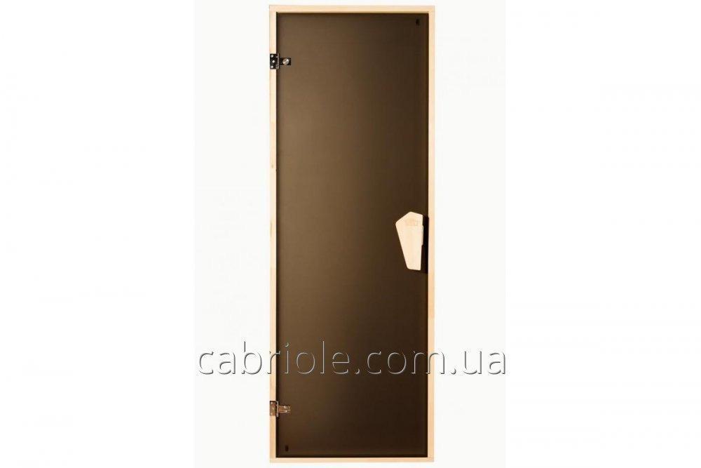 Дверь для бани и сауны Tesli Sateen 1900 x 700, не прозрачная