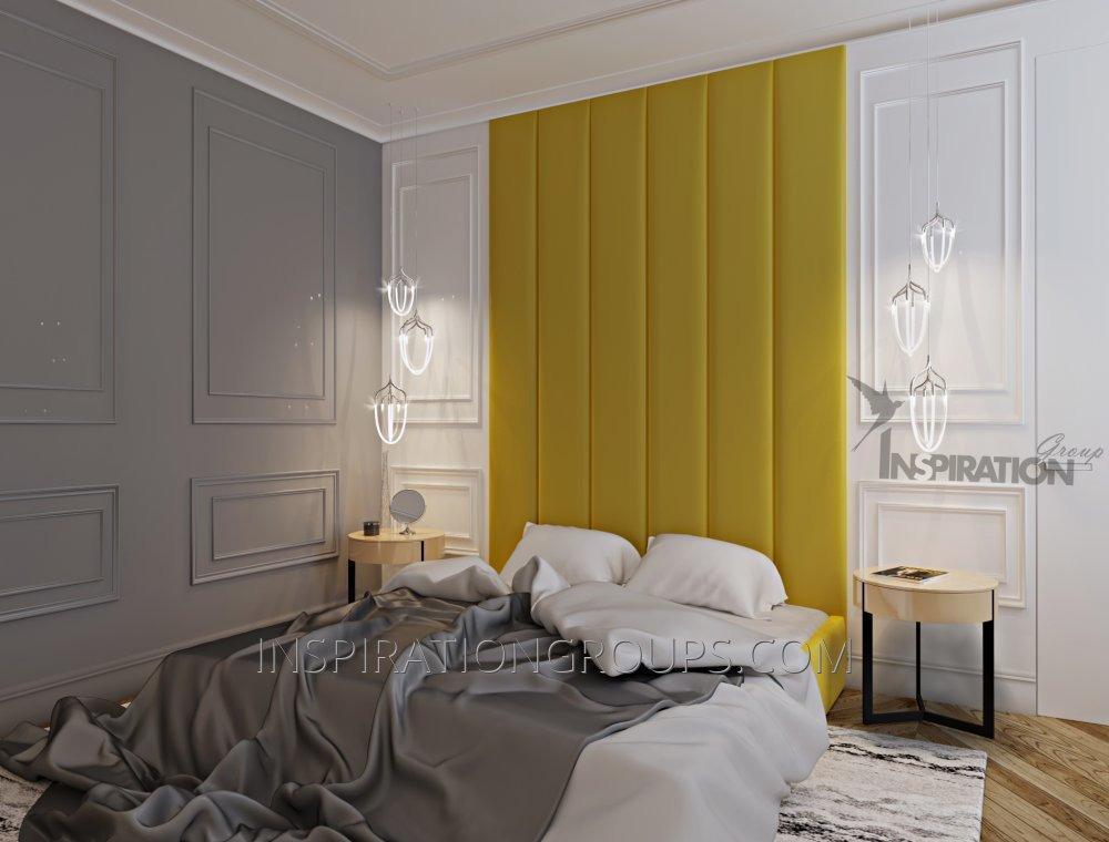 Стеновая панель и кровать