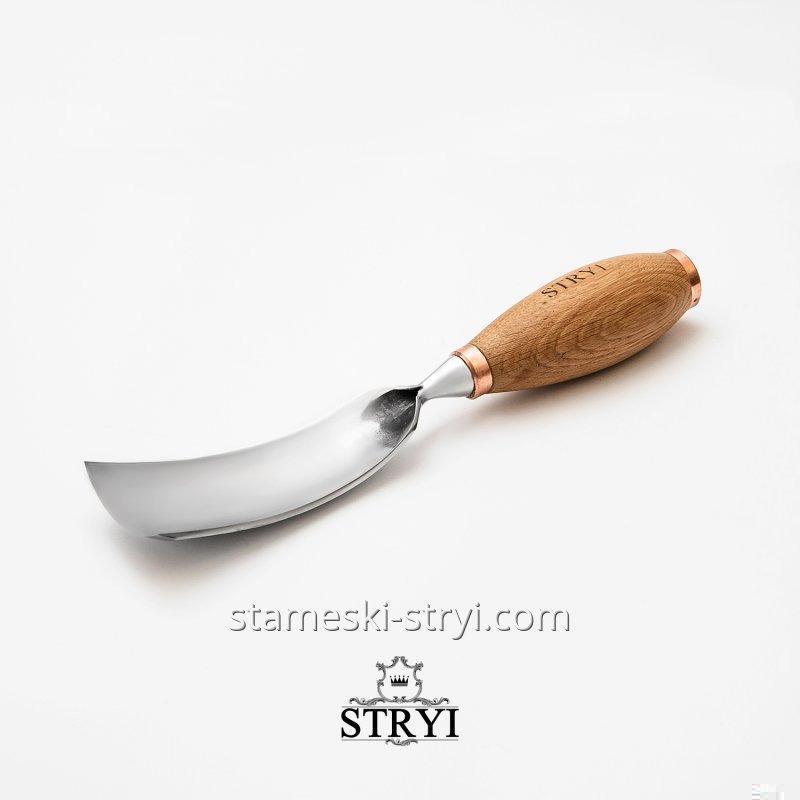 Стамеска ударная отлогая клюкарза STRYI для резьбы по дереву, ширина 70 мм, арт.66770