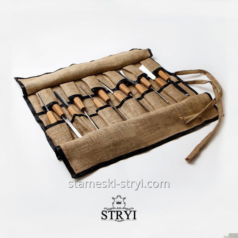 Чехол-скатка для хранения инструментов, на 10 штук, арт.99992