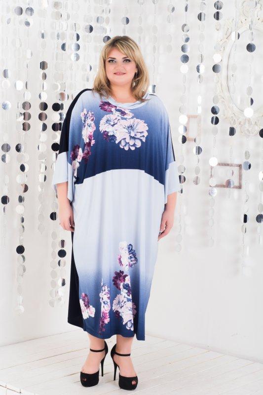 Купить Красивое , стильное , модное платье Алла ( oversize) большие размеры 1057А-1