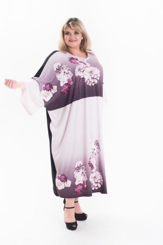 Красивое , стильное , модное платье Алла  ( oversize) большие размеры 1057А-2