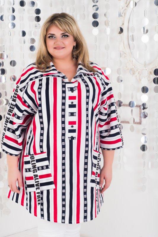 Стильная , модная , красивая рубашка Кэпс больших размеров 1061К-5
