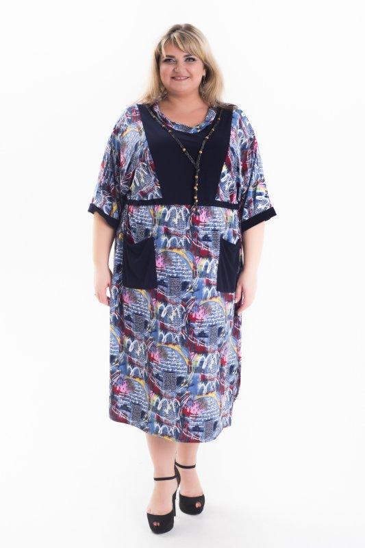 Стильное и модное платье больших размеров Роксолана 1055Р-2