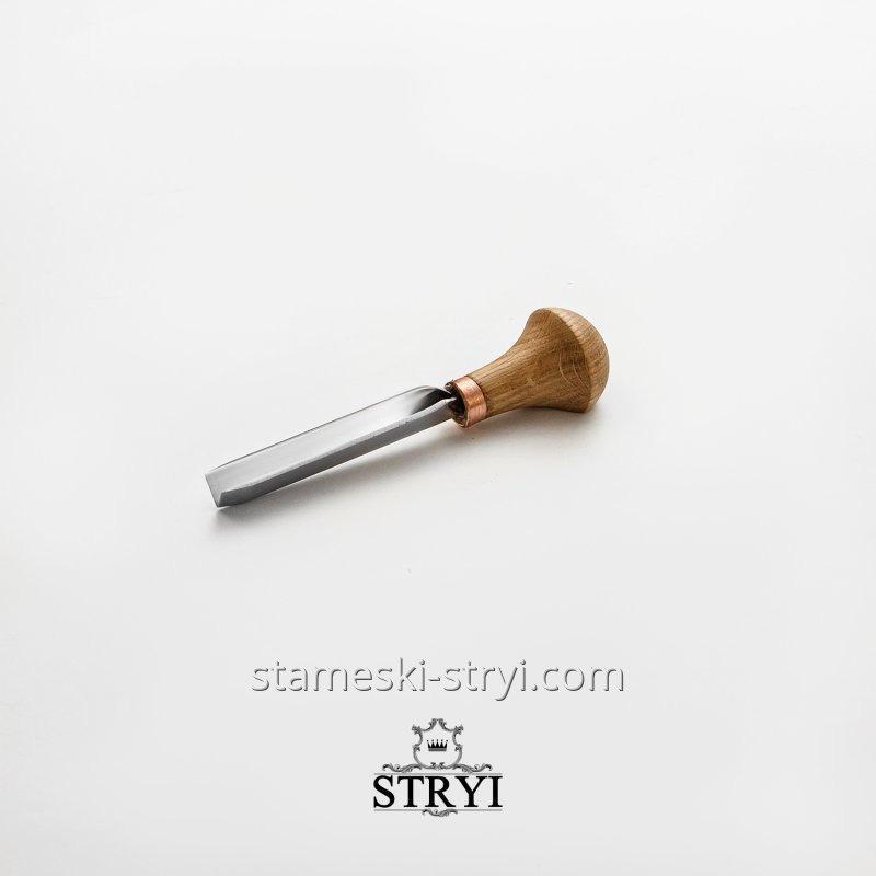 Штихель угловой 60 градусов для гравировки и резьбы по дереву STRYI, высота 10 мм, арт.36010