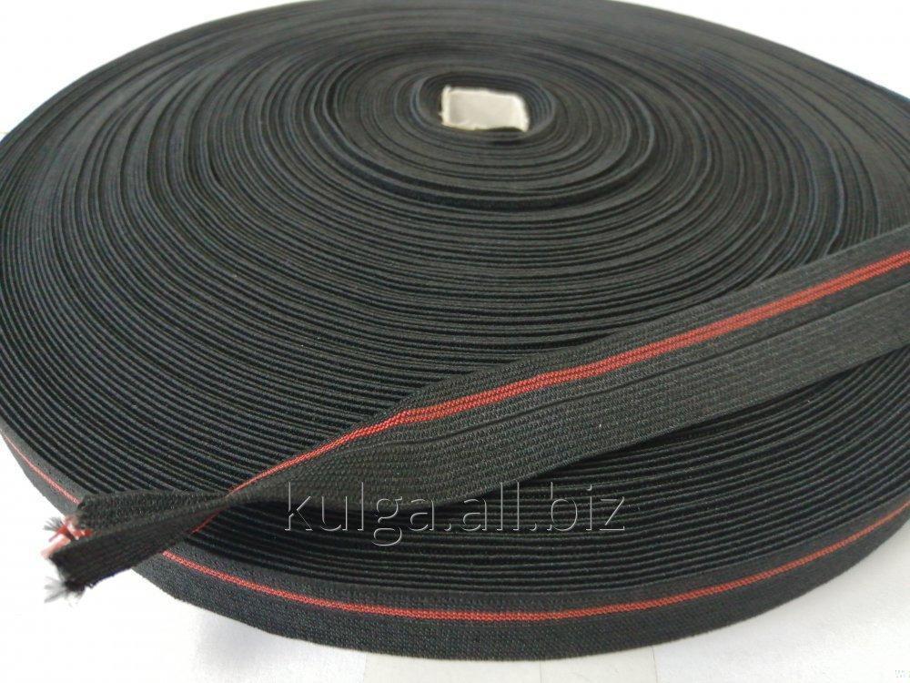 Резинка окантовочная пополамка 2,3 см черная